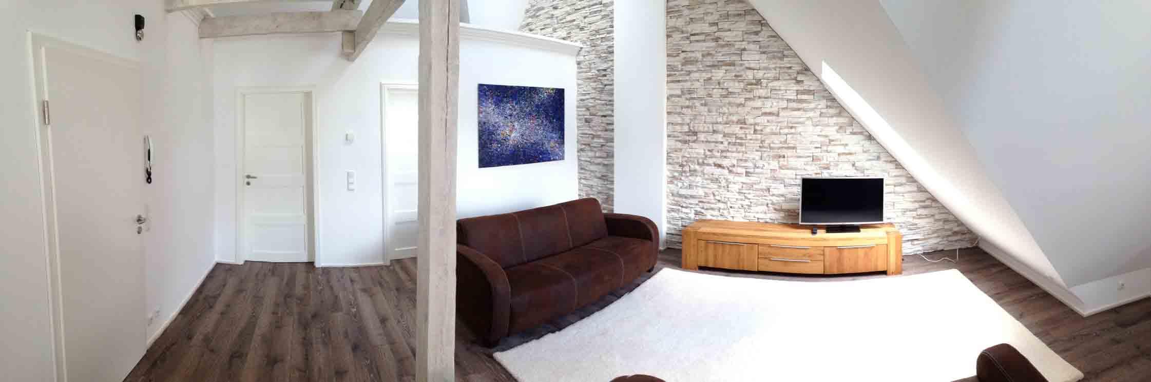 Cuxcloudferienwhg - Panoramabild schlafzimmer ...